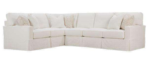"Slipcovered Sectional Sofa Noelle 2-Piece ""Designer Style"" Slipcovered Sectional (As Configured)"