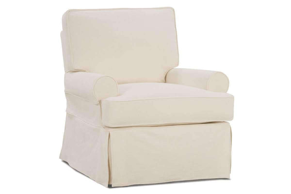"Sofa Christine ""Quick Ship"" Slipcover Swivel Chair"