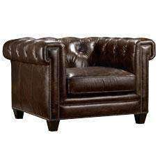 "Sofa Damien ""Quick Ship"" Tufted Leather Club Chair"