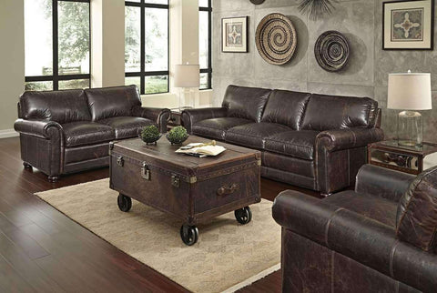 "Sofa Henderson ""Quick Ship"" 3-Piece Leather Sofa, Loveseat & Chair Set"