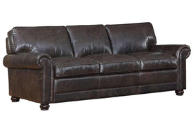 Sofa Henderson Quick Ship Brown Leather Sofa