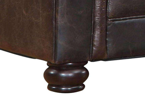 Sofa Henderson Quick Ship Chocolate Leather Loveseat