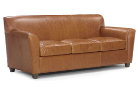 "Soho 82.5 Inch ""Designer Style"" Contemporary Low Back Leather Sofa"