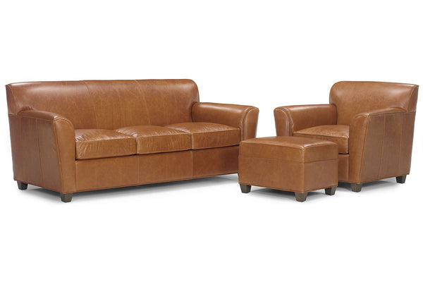 "Soho ""Designer Style"" Leather Queen Sleeper Sofa Set"