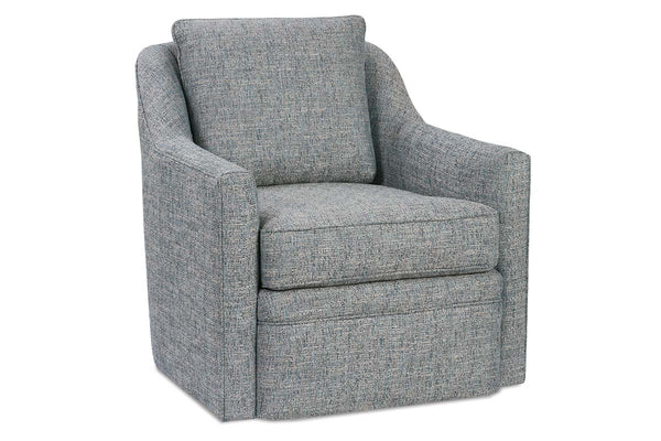 Stella Contemporary Fabric Swivel Accent Chair