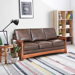 Stockton Mission Craftsman Style Leather Seating Collection