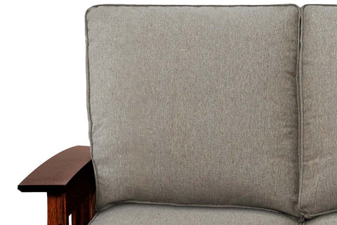 Stockton 83 Inch Fabric Mission Arts And Crafts Queen Sleeper Sofa