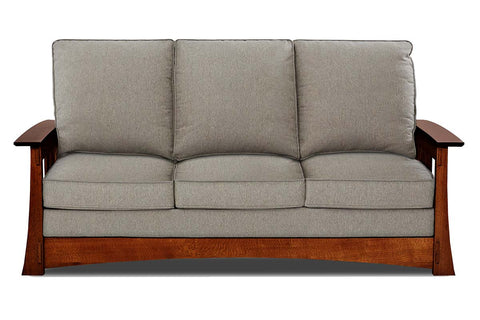 Stockton Fabric Mission Two Seat Loveseat (Photo For Style Only)