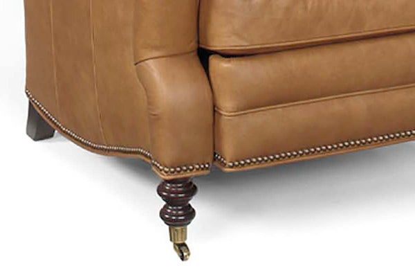 "Sullivan ""Designer Style"" Leather Club Chair w/ Charles Of London Arm"