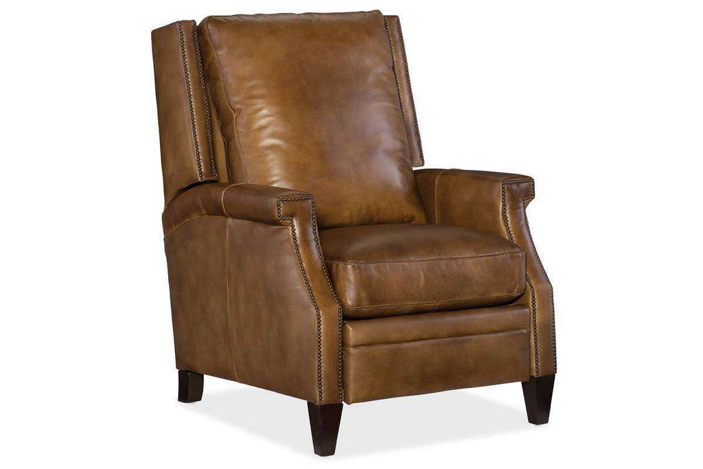 Sylvester Quick Ship Pillow Wing Back Leather Recliner