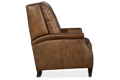 "Living Room Furniture Recliner Chairs Leather Sylvester ""Quick Ship"" Pillow Wing Back Leather Recliner"