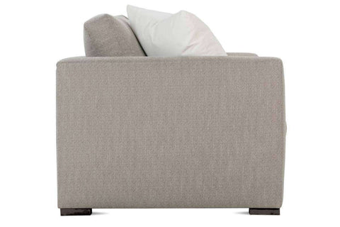 Tamra I 88 Inch Fabric Upholstered Single Bench Seat Wing Arm Sofa