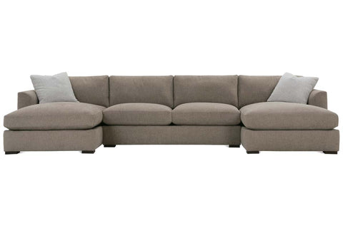 "Tamra ""Designer Style"" Large Scale Wing Arm Fabric Sectional"