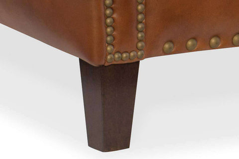"Thaddeus ""Quick Ship"" Traditional Top Grain Leather Pillow Back Chair OUT OF STOCK UNTIL 3/31/20"