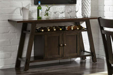 Thayer Contemporary Light And Dark Espresso Storage Dining Buffet