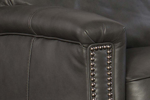 "Thompson Charcoal ""Quick Ship"" Pillow Wing Back Leather Recliner -OUT OF STOCK UNTIL 10/1/20"