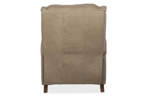 "Thompson Tweed ""Quick Ship"" Pillow Wing Back Leather Recliner - OUT OF STOCK UNTIL 11/5/20"