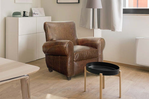 Tribeca Rustic Leather Tight Back Club Chair