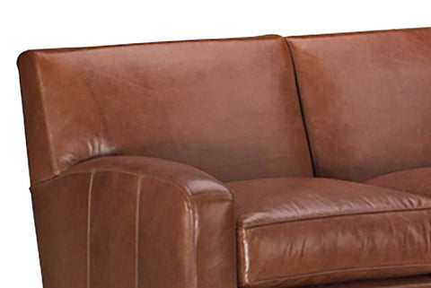 Tuscany Contemporary Three Piece Tight Back Leather Sectional (As Configured)