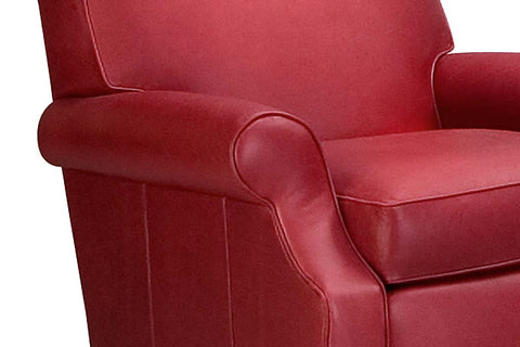 "Tyler ""Designer Style"" Transitional Leather Club Chair"