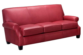 "Tyler 80 Inch ""Designer Style"" Leather Full Sleeper Sofa"