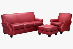 "Tyler ""Designer Style"" Leather Sofa Set"