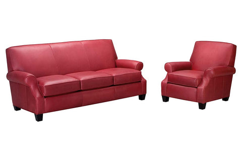 "Tyler ""Designer Style"" Leather Sofa & Recliner Set"