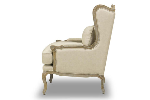 "Valentina ""Quick Ship"" Carved Wood Salon Accent Chair"