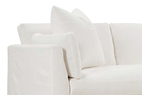 "Vanessa I 99 Inch ""Designer Style"" Single Bench Seat Slipcovered Sofa"