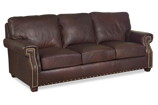 Vincent Pillow Back Leather Sofa Or Sleeper Sofa