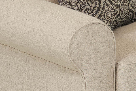 "Warren ""Custom Value"" Rolled Arm Oversized Fabric Living Room Chair"