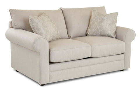 "Warren ""Custom Value"" Large Rolled Arm Two Seat Transitional Fabric Loveseat"