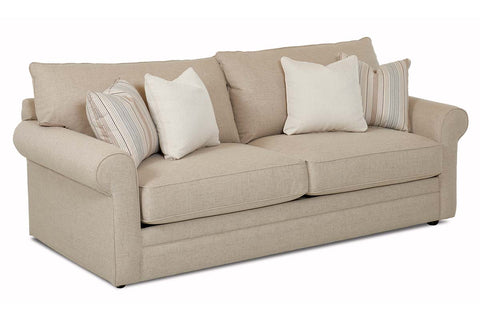 "Warren ""Custom Value"" 89 Inch Fabric Transitional Queen Sleep Sofa"