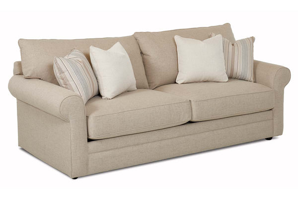 "Warren ""Custom Value"" 89 Inch Large Rolled Arm Two Seat Fabric Sofa"