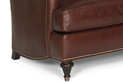 "Wesley ""Designer Style"" Traditional English Arm Leather Club Chair"