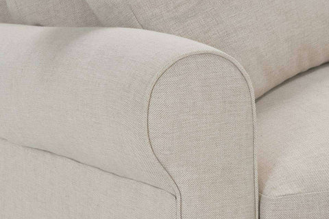 Winona I 94 Inch Fabric Upholstered Single Bench Seat Roll Arm Sofa