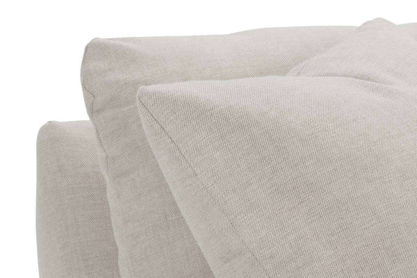 Winona I 88 Inch Fabric Upholstered Single Bench Seat Roll Arm Sofa