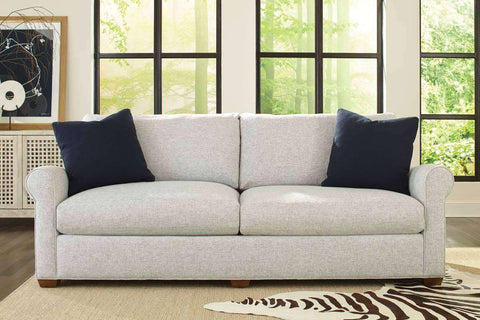 Winona II 94 Inch Fabric Upholstered 2 Cushion Roll Arm Sofa