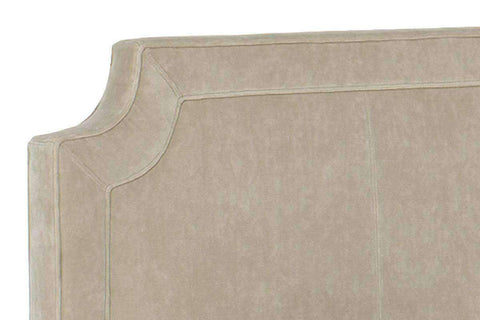 Upholstered Bed Winslow Fabric Headboard With Scalloped Edges