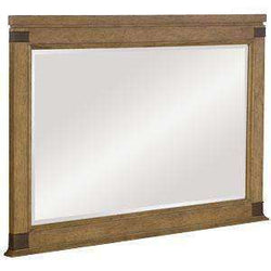 Wood Bedroom Furniture Chandler Beveled Landscape Mirror