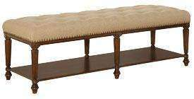 Wood Bedroom Furniture Cromwell Upholstered Bench