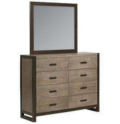 Wood Bedroom Furniture Dorsey Bureau With Matching Mirror