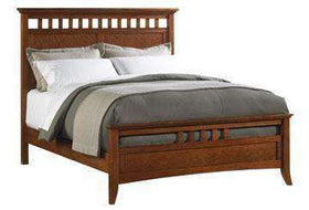 Wood Bedroom Furniture Lancaster Modern Shaker Wood Slat Panel Bed