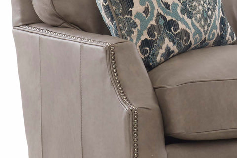 Xavier 80 Inch Apartment Size Three Seat Leather Sofa