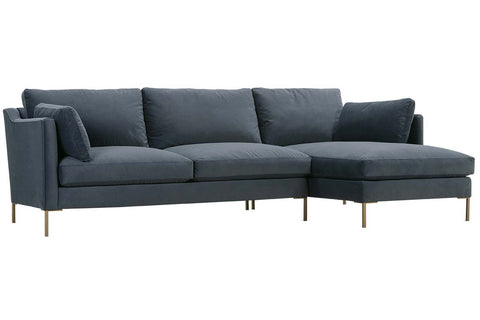 "York ""Designer Style"" Two Piece Contemporary Sectional Sofa"