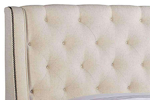 "Upholstered Bed Yorkshire ""Designer Style"" Queen Tufted Wing Bed"
