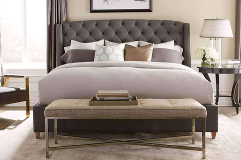 "Yorkshire ""Designer Style"" Queen Tufted Wing Bed"