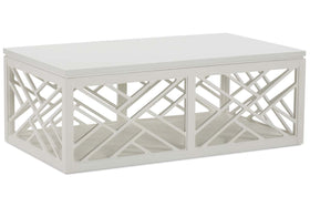 Zola Transitional Cloud White Occasional Table Collection