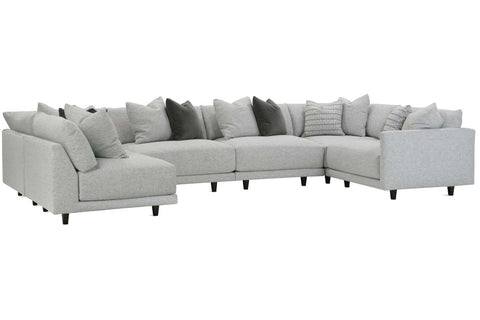 "Zuri ""Designer Style"" Modern Sectional With Seat Level Ottoman"