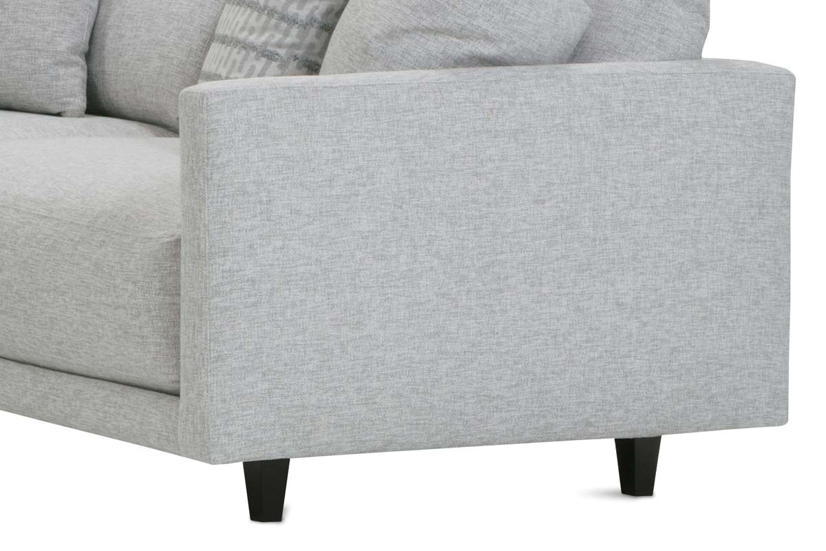 """Zuri """"Designer Style"""" Modern Sectional With Seat Level Ottoman"""